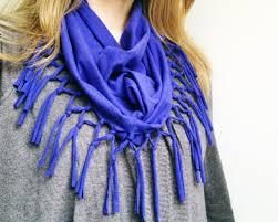 شال گردن آبی زنانه
