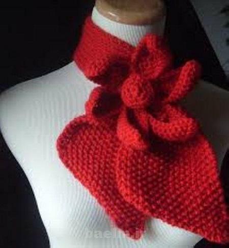 شال زنانه قرمز طرح گل رز