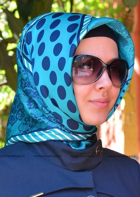 روسری آبی