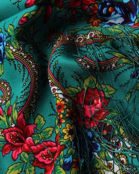 روسری ترکمن سبز
