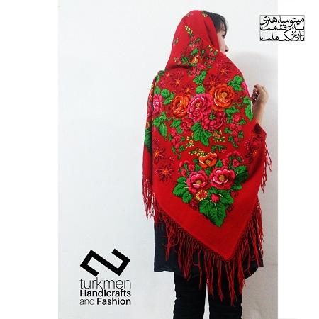 روسری ترکمن قرمز