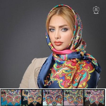 روسری ابریشمی زیبا