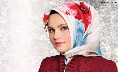 روسری اریشمی سفید