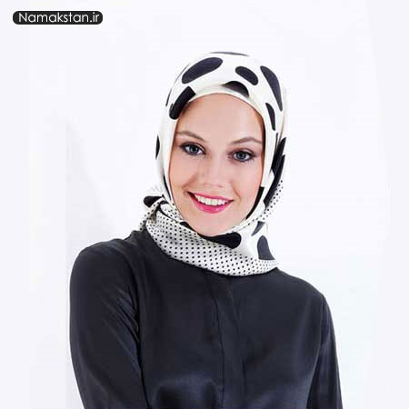 روسری مجلسی سفید