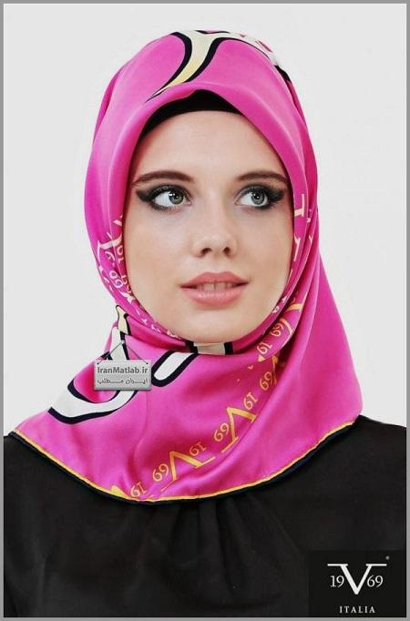 روسری مجلسی صورتی