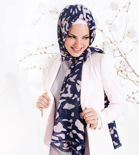 شال و روسری 95 آبی