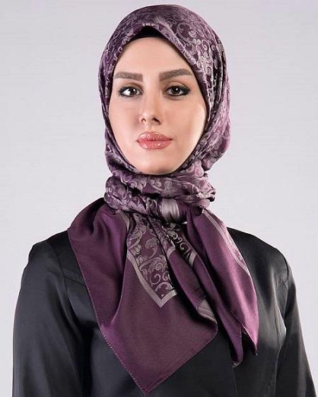 شال و روسری بنفش زنانه 95