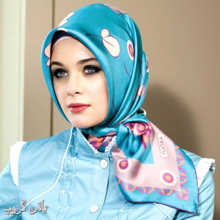 روسری و شال کرمان آبی