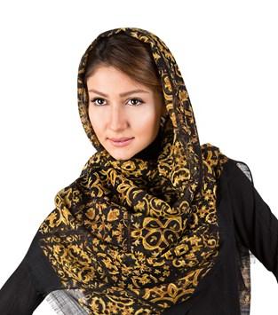 شال و روسری کنزو مشکی و زرد
