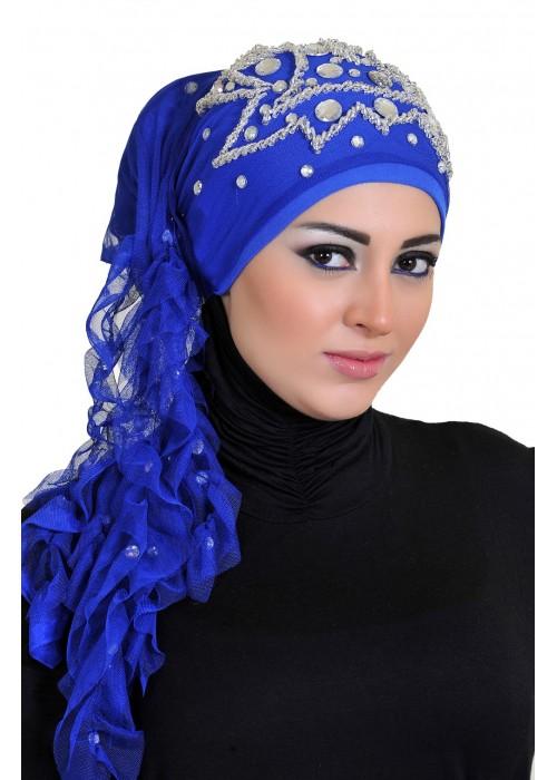 شال و روسری ترکیه ای آبی