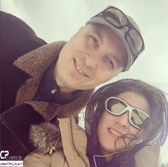عکس سلفی ویشکا آسایش با همسرش