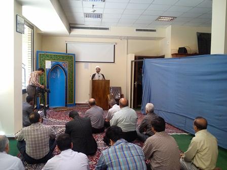 سخنرانی امام جمعه قهدریجان در جمع کارکنان بنیاد مسکن انقلاب اسلامی اصفهان