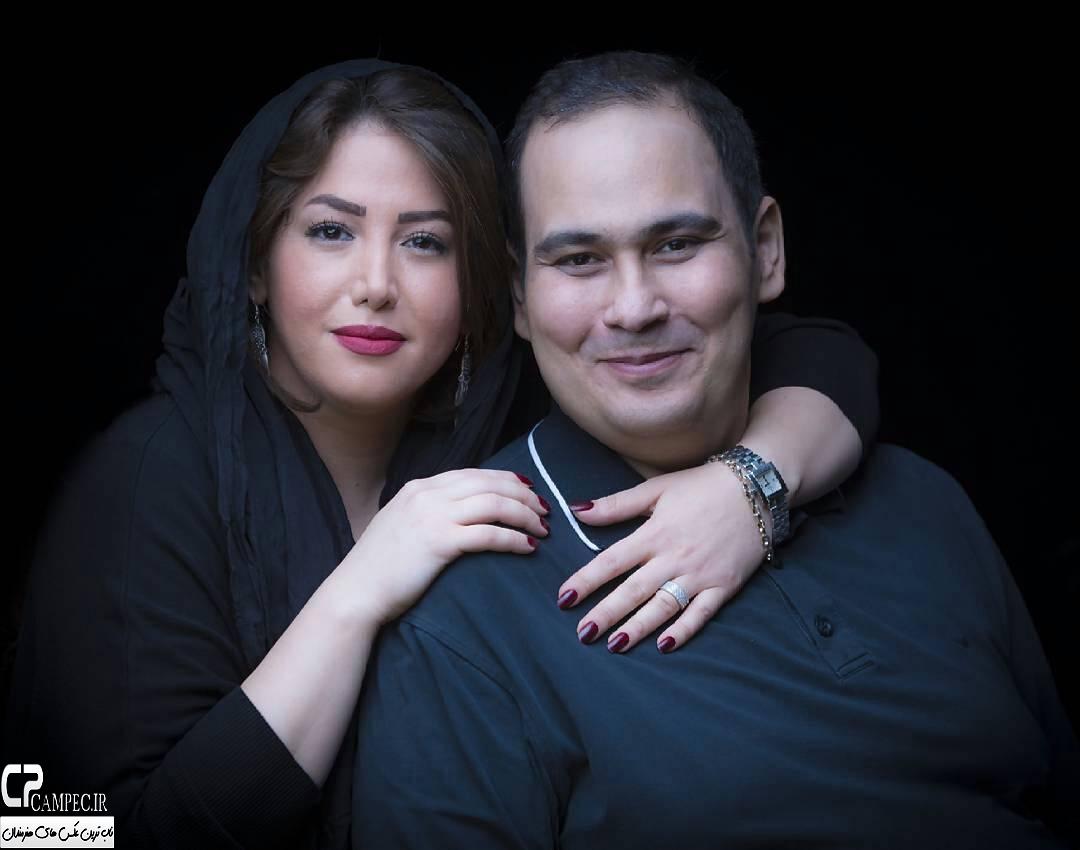 عکس شخصی رضا داود نژاد و همسرش غزل بدیعی