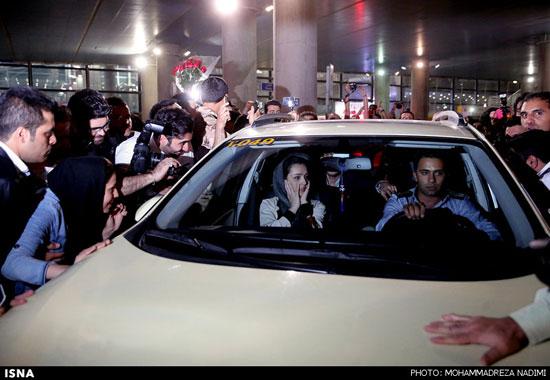عکسهای مراسم استقبال از شهاب حسینی ترانه علیدوستی واصغر فرهادی
