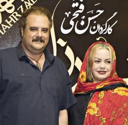 عکسهای هومن برق نورد با همسرش