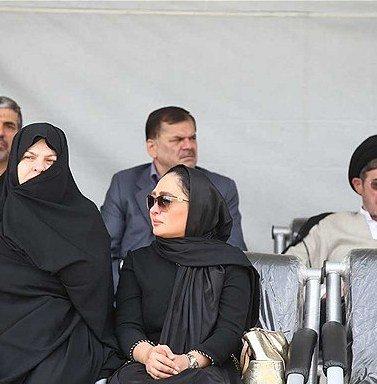 الهام حمیدی در تشییع پیکر همسر شهید بابایی , اخبار فرهنگ وهنر