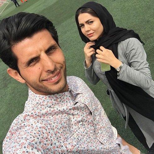 عکس سلفی آزاده زارعی با طالب لو , عکس بازیگران