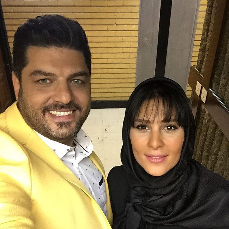 سام درخشانی و همسرش عسل امیر پور