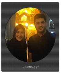 بیوگرافی و عکسهای سام درخشانی با همسرش