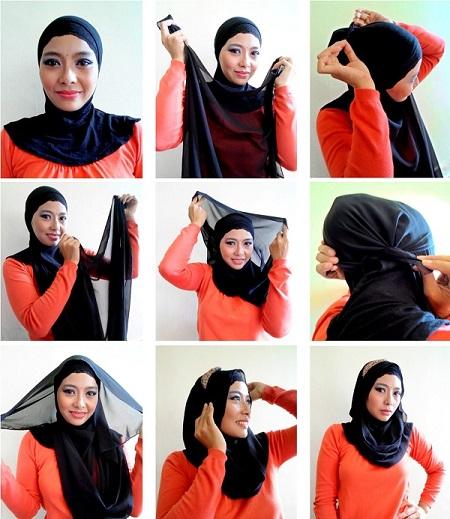 روش های بستن شال و روسری
