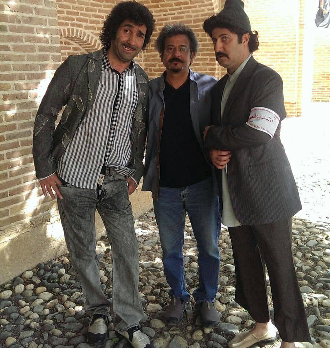 هومن حاجی عبداللهی و هادی کاظمی در پشت صحنه سریال علی البدل