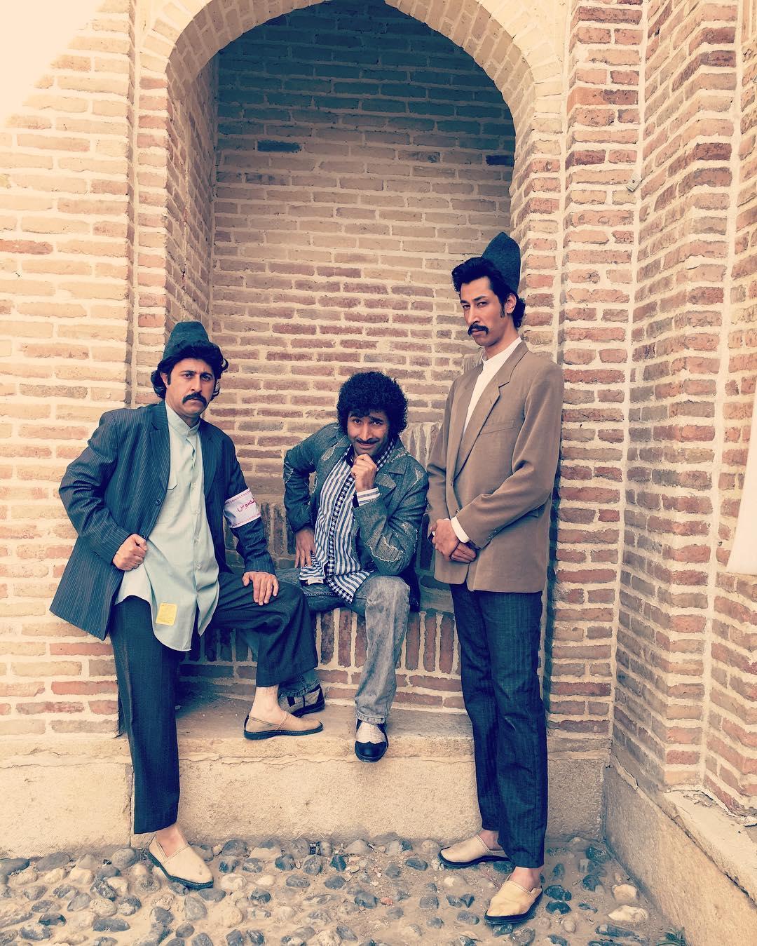 تصاویر جالب ، از گریم بازیگران سریال علی البدل , عکس بازیگران