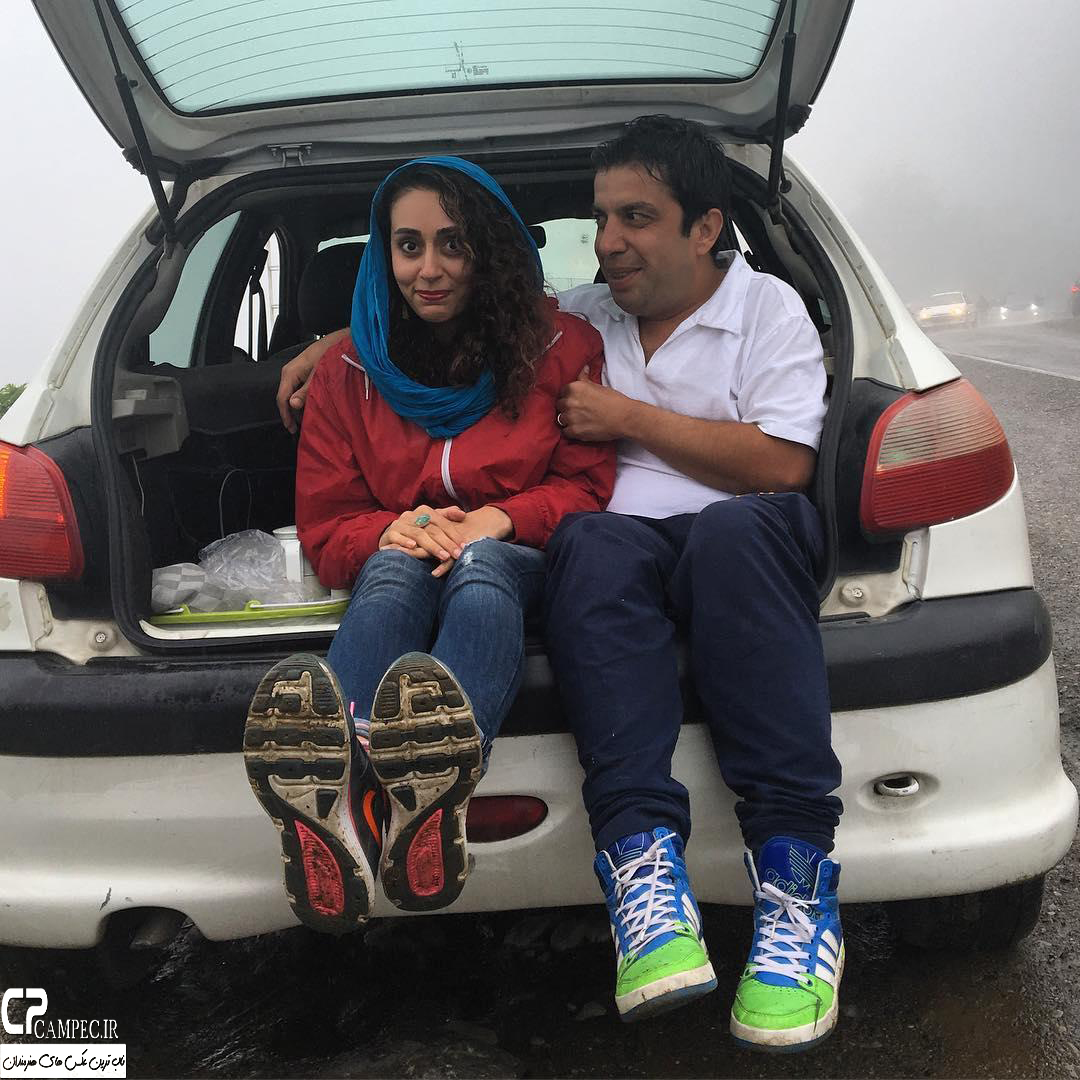عباس جمشیدی فر و همسرش فریبا امینیان