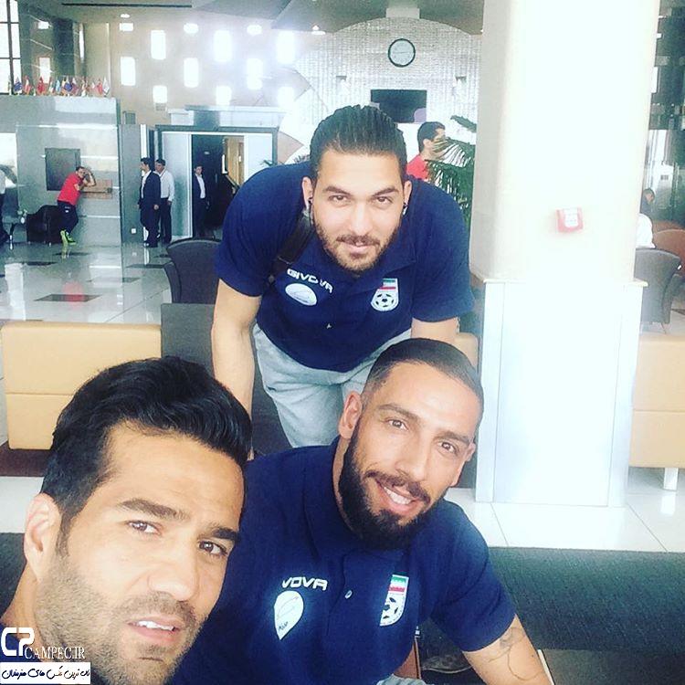بازیکنان تیم ملی فوتبال ایران در فرودگاه ترکیه