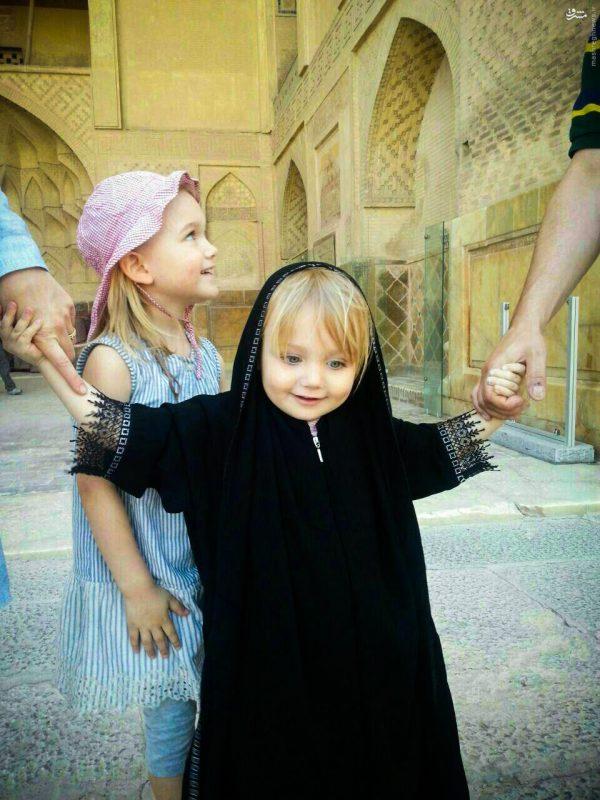 حجاب دختر فرانسوی در اصفهان +عکس , اجتماعی