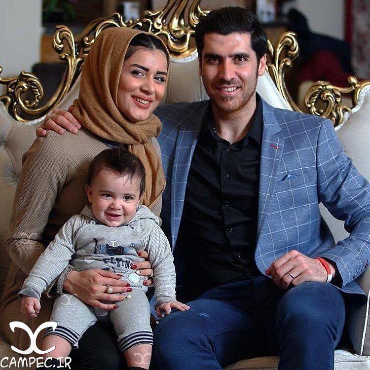 شهرام محمودی و همسر و پسرش