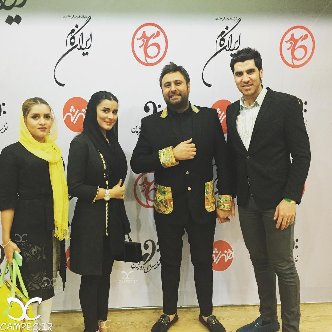 عکس شهرام محمودی با همسرش