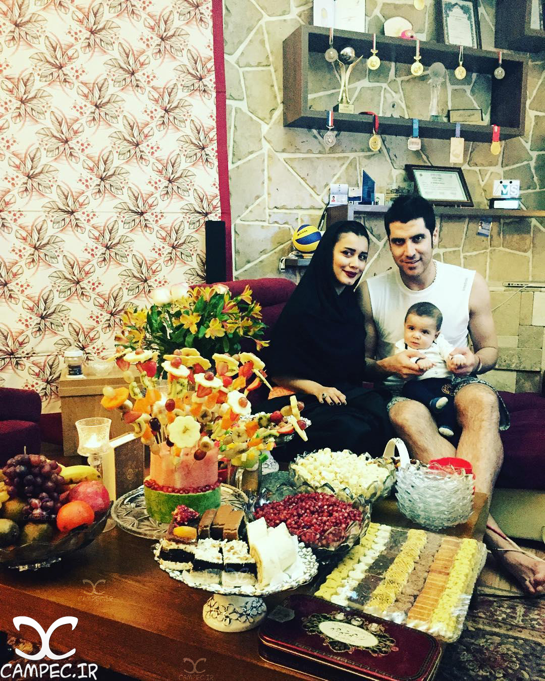 عکس شخصی شهرام محمودی با همسرش