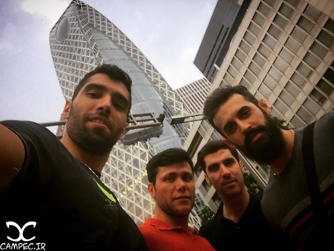 شهرام محمودی و بازیکنان تیم ملی والیبال