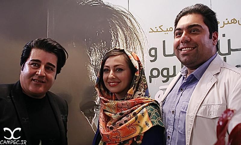 نفیسه روشن و همسرش در کنار مهدی یغمایی