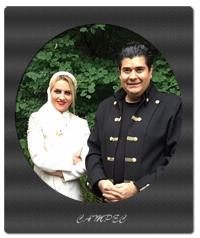 عکسهای سالار عقیلی و همسرش حریر شریعت زاده
