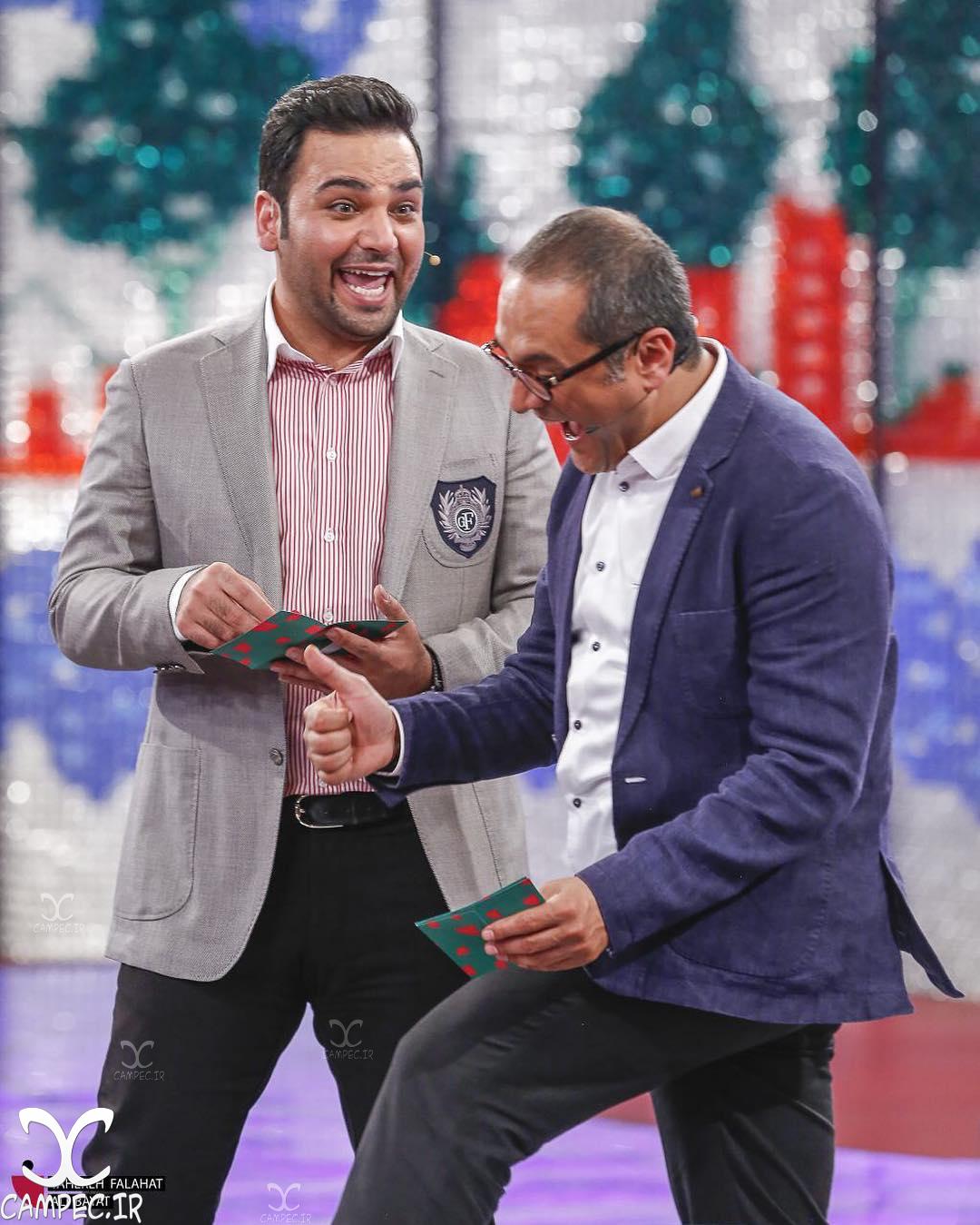 احسان علیخانی و رامبد جوان در برنامه خندوانه