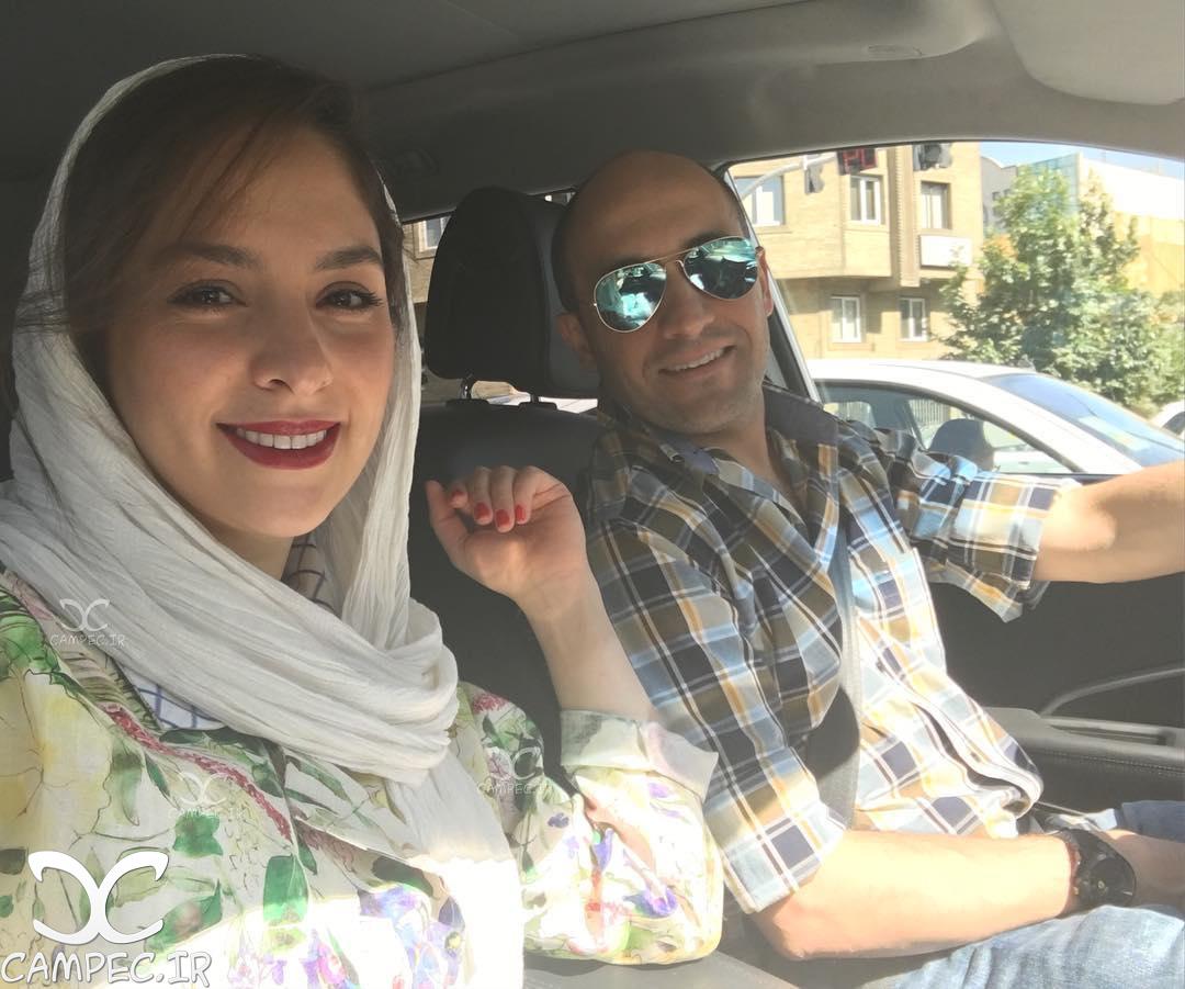 عکس شخصی علی سرابی با همسرش