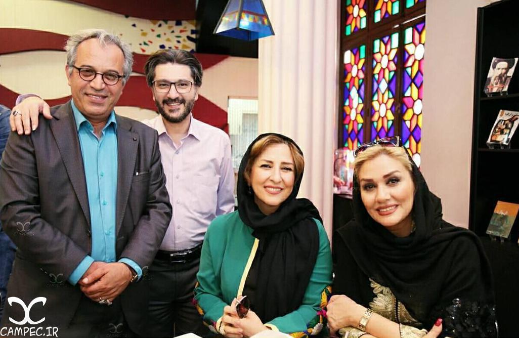 امیر حسین مدرس و همسرش،مرجانه گلچین و حسین لطیفی