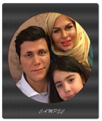 عکسهای مهدی مهدوی با همسر و دخترش