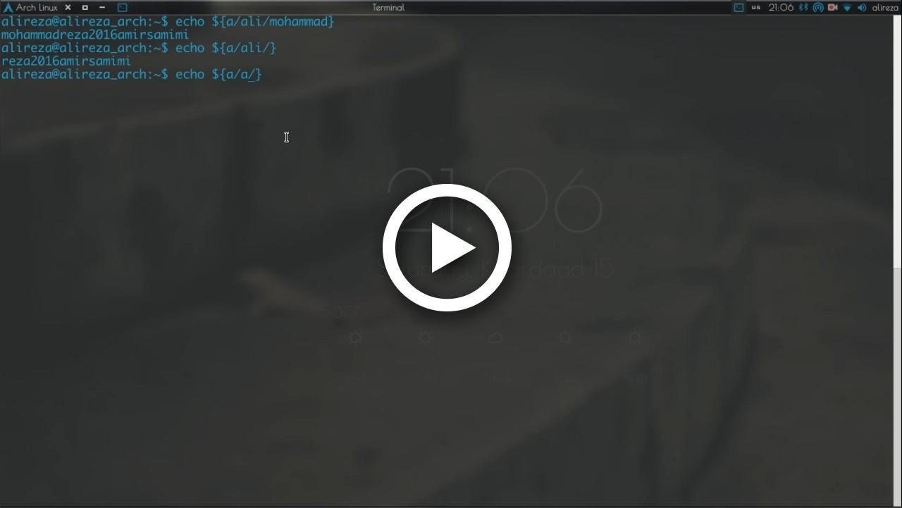 ویدیوهای آموزش Bash (قسمت پانزدهم اضافه شد)