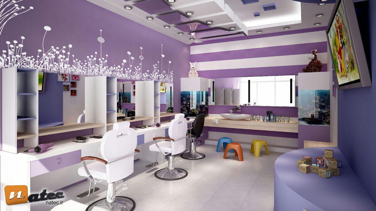 طراحی و اجرای دکور آرایشگاه زنانه