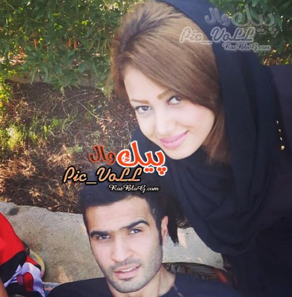 عکس مصطفی شریفات و همسر ش