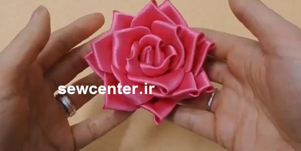 فیلم آموزش ساخت گل رز روبان