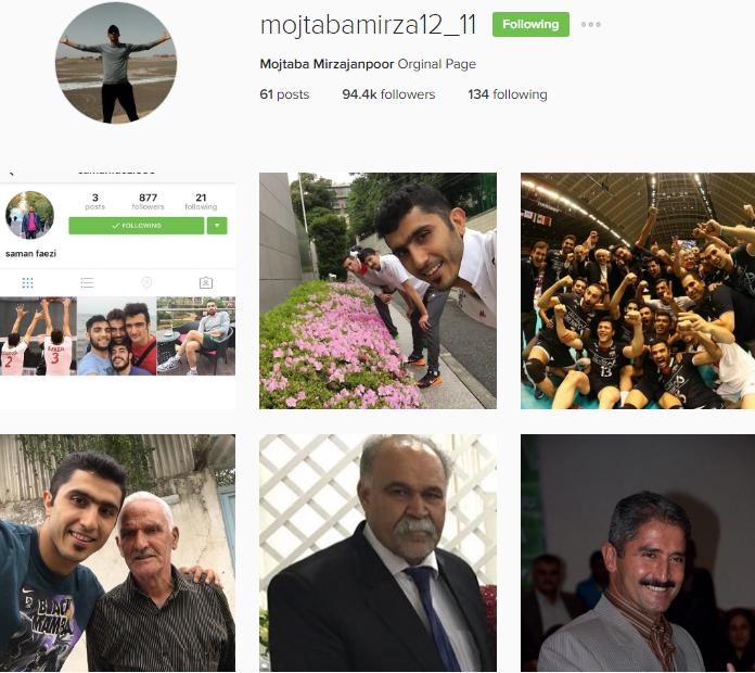 آخرین عکس از پروفایل اینستاگرام مجتبی میرزاجانپور