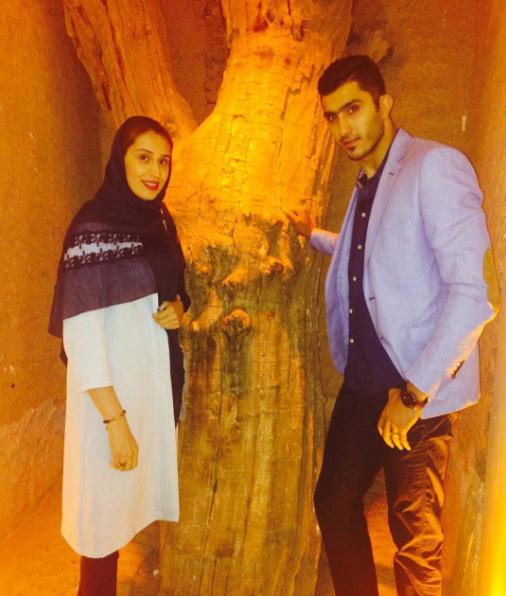عکس مجتبی میرزاجانپور و همسر ش