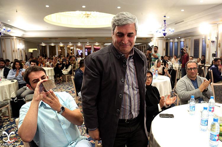 ابراهیم حاتمی کیا در جشن روزنامه سینما