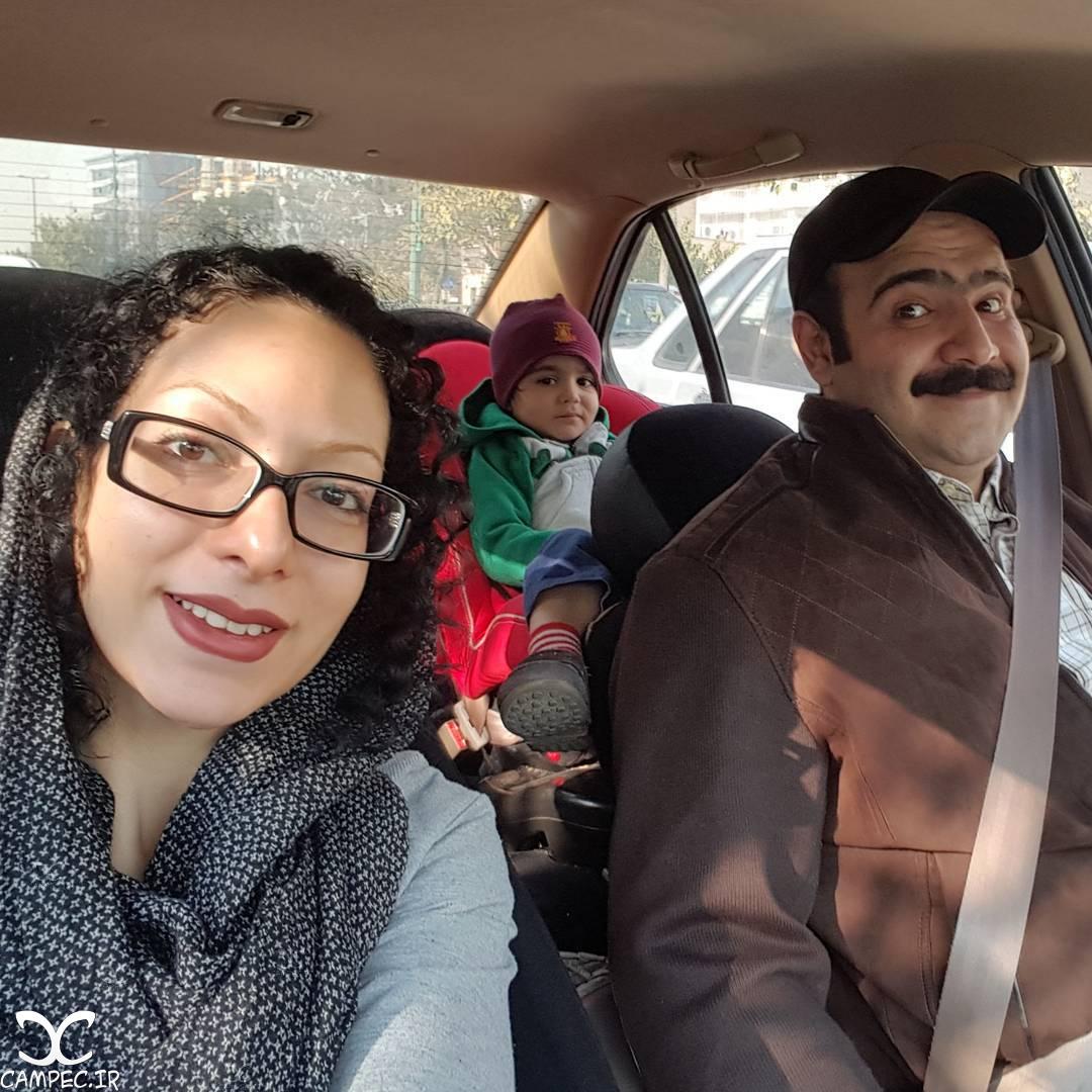 بهادر مالکی با همسر و فرزندش