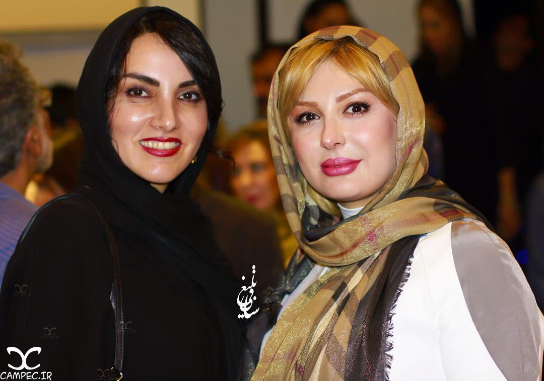 نیوشا ضیغمی و مرجان شیرمحمدی در اکران خصوصی فیلم گاوخونی