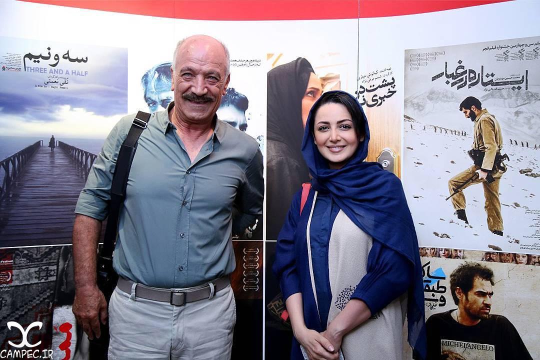 شیلا خداداد و سعید راد در اکران خصوصی فیلم گاوخونی