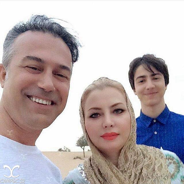 دانیال حکیمی با همسر و پسرش